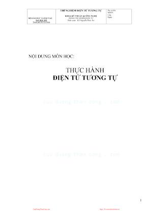 ĐHMO.Thực Hành Điện Tử Tương Tự  - Ks.Nguyễn Phúc Ân, 38 Trang.pdf