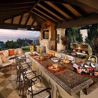 Outdoor Patio Kitchen 30 Fascinating S Back Yard Ideas Decorations