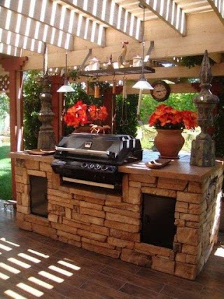 Spanish Style Outdoor Kitchen Designs Awesome
