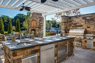 Outdoor Commercial Kitchen Trexpergolaovertp Trex Pergola