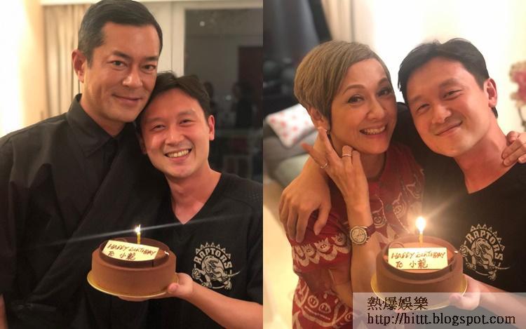 凌文龍昨晚獲老闆古天樂提早慶祝34歲生日。