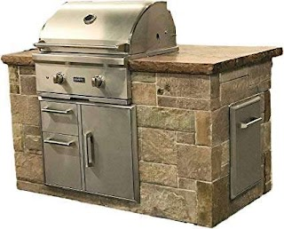 Bbq Outdoor Kitchen Kits Amazoncom Grill Island Kit Home Improvement