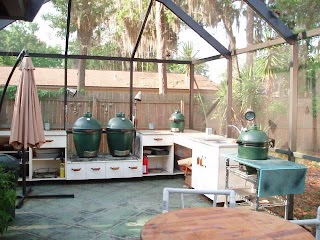 Green Egg Built in Outdoor Kitchen Help Any Creative Bge Stallation Ideas Big