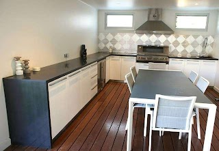 Adelaide Outdoor Kitchens Kitchen Polished Concrete Benchtops Pressed Metal Splashback