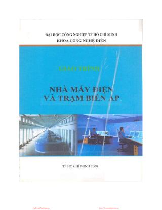 ĐHCN.Giáo Trình Nhà Máy Điện và Trạm Biến Áp - Nhiều Tác Giả, 65 Trang.pdf