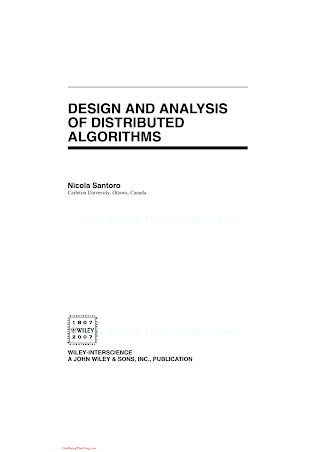 0471719978 {A05882E8} Design and Analysis of Distributed Algorithms [Santoro 2006-10-27].pdf