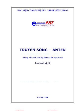 BCVT.Truyền Sóng & Anten 2006 - Ts. Nguyễn Phạm Anh Dũng & Ths. Phạm Thị Thúy Hiền, 151 Trang.pdf