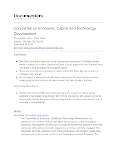 Committee on Economic, Capital and Technology Development