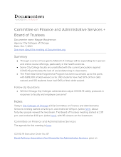 Committee on Finance and Administrative Services + Board of Trustees
