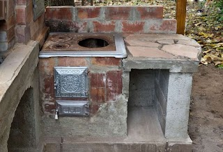 Primitive Outdoor Kitchen Wood Cookstove Ideas