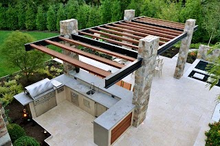 Outdoor Kitchen Construction Modern Franklin Lakes NJ  Modern