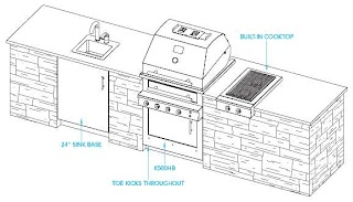 Building Plans Outdoor Kitchen Modern Home Design Layouts