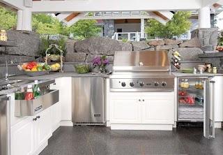 Outdoor Kitchen Deep Fryer Built in Appliances Equipment Landscapg Network
