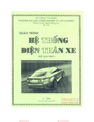 ĐHCN.Giáo Trình Hệ Thống Điện Thân Xe - Bùi Chí Thành, 92 Trang.pdf