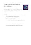 Scouts Gardener Activity Badge