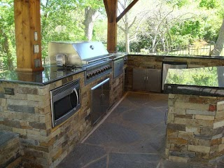Texas Outdoor Kitchen Custom Design Austin Southern Landscape