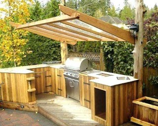 Outdoor Kitchens on a Budget Ffordble