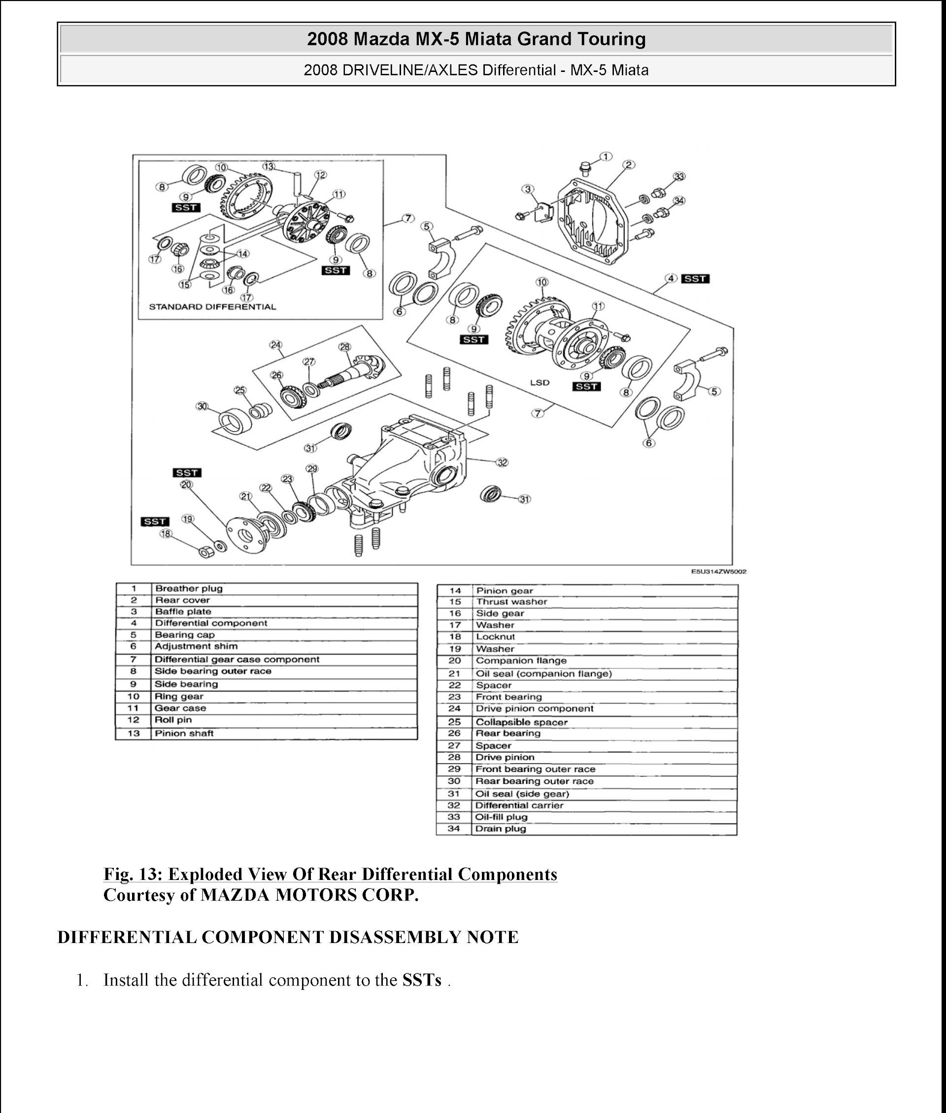 Download 2008-2009 Mazda Miata MX-5 Service Repair Manual