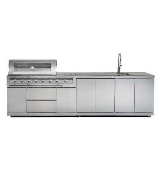 Gasmate Outdoor Kitchen Galaxy with Bbq Cupboard and Sink Unit