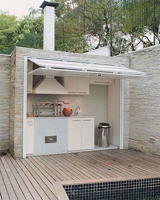 Outdoor Kitchen Cover Cool with Garage Door Stuff