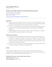 Finance Committee: General Fund Budget Hearings (Day 5)