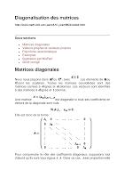 diagonalisation des matrices