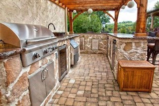 Country Outdoor Kitchen French Style with Views Rustic S
