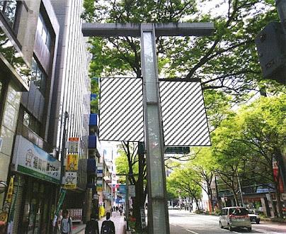 博多駅前街路灯バナー広告