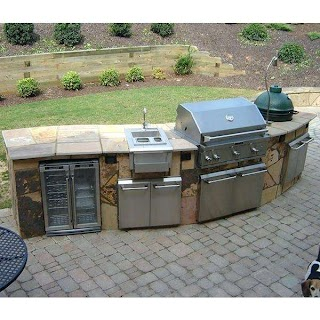 Bbq Outdoor Kitchen Islands Island Charcoal Grill Aid Freestanding