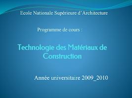 Technologie des Matériaux de Construction.pptx