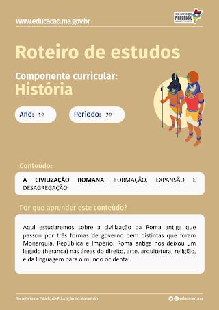 A CIVILIZAÇÃO ROMANA: FORMAÇÃO, EXPANSÃO E DESAGREGAÇÃO