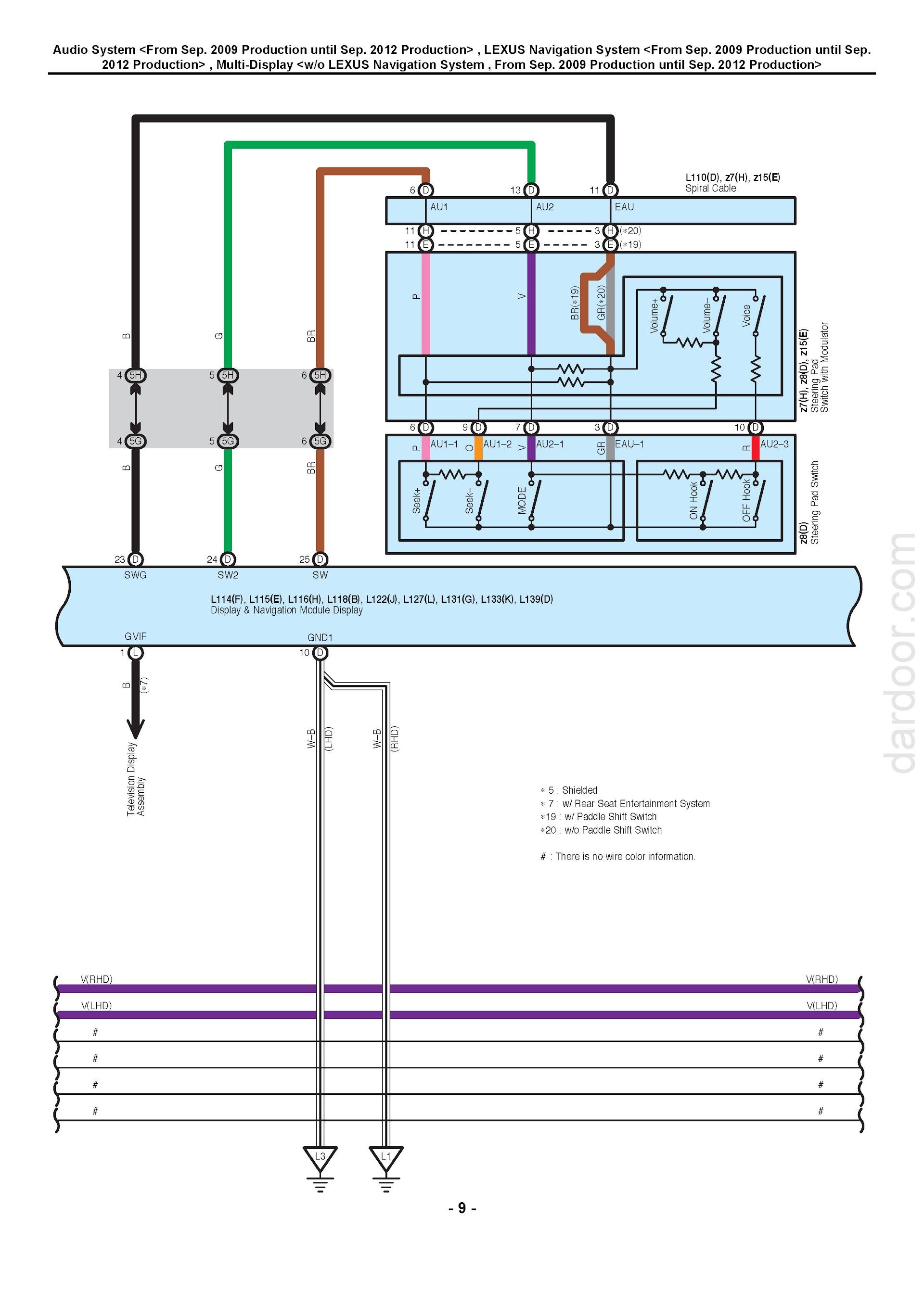 Download 2008-2014 Lexus LS460 | LS460L Wiring Diagrams.