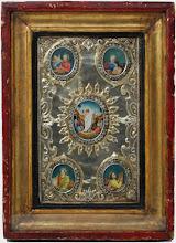 Icoana din argint cu 5 medalioane pictate, sec al XIX-lea, Rusia