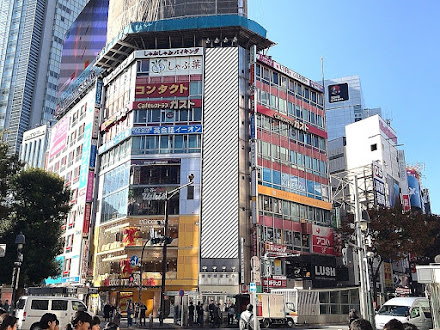 渋谷駅前ビルロングボード