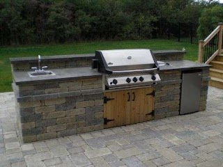 Outdoor Kitchen Bbq with Fridge an Napoleon Grill Sink and Allow And