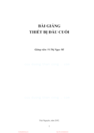 Bài Giảng Thiết Bị Đầu Cuối - Vi Thị Ngọc Mĩ, 32 Trang.pdf