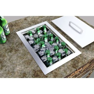 Outdoor Kitchen Ice Chest Sunstone Grills Single Basin Insulated