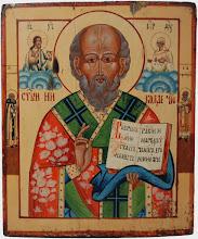 """Icoana """"Sfantul Nicolae"""", sec al XIX-lea, Rusia"""