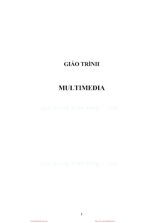 Giáo Trình Multimedia - Nhiều Tác Giả, 53 Trang.pdf