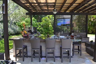 Outdoor Kitchens Miami Kitchen and Pergola Project in South Florida Traditional