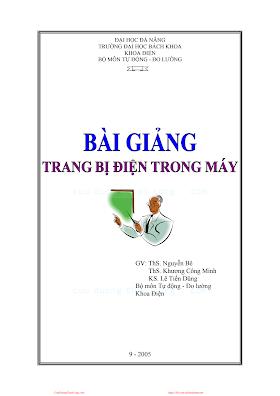 ĐHĐN.Bài Giảng Trang Bị Điện Trong Máy - Ths.Nguyễn Bê, 115 Trang.pdf
