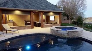 Outdoor Kitchen Designs with Pool Cabana Design Designing Idea