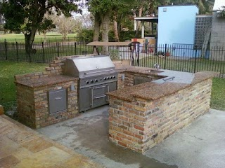 Brick Outdoor Kitchen How to Install a Faux Faux Direct
