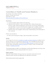 Committee on Health and Human Relations