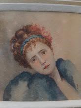 "Tablou miniatura ""Portret de fata"" - 149 - poza 2 - Galeria Anton"