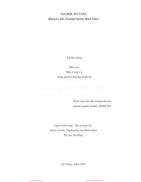 ĐHĐN.Máy Công Cụ Điều Khiển Chương Trình Số - Bùi Trương Vỹ, 124 Trang.pdf