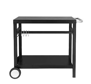 Outdoor Kitchen Storage Cart Royal Gourmet Bbq Work Table Prep Trolley