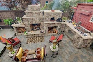 Outdoor Kitchen Pizza Oven Design S Featuring S Fireplaces and Other