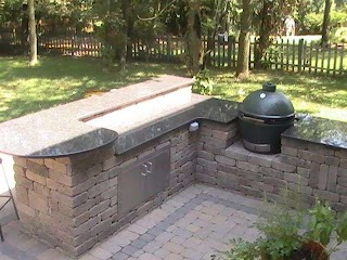 Outdoor Kitchen with Green Egg Big The Shop in 2019 Big