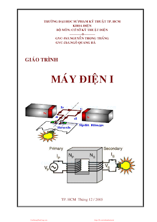SPKT.Giáo Trình Máy Điện 1 - Ths. Nguyễn Trọng Thắng, 162 Trang.pdf